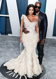Kanye West Photo - BEVERLY HILLS LOS ANGELES CALIFORNIA USA - FEBRUARY 09 Kim Kardashian West and Kanye West arrive at the 2020 Vanity Fair Oscar Party held at the Wallis Annenberg Center for the Performing Arts on February 9 2020 in Beverly Hills Los Angeles California United States (Photo by Xavier CollinImage Press Agency)