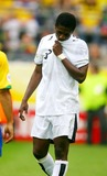 Asamoah Gyan Photo - World Cup Soccer  Ghana Vs Brazil World Cup Stadium Dortmund Germany 06-27-2006 Photo Stewart Kendall  Allstar  Globe Photos Inc 2006 Asamoah Gyan Is Sent Off