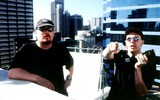 ANDY  LARRY WACHOWSKI Photo -  the Matrix Directors Andy_larry Wachowski Supplied by Rangefinder  Globe Photosinc
