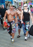 Photos From August 11, 2010: Pauly D, Vinny, Ronnie and Sammi head to the beach as they film scenes for season 3 of the